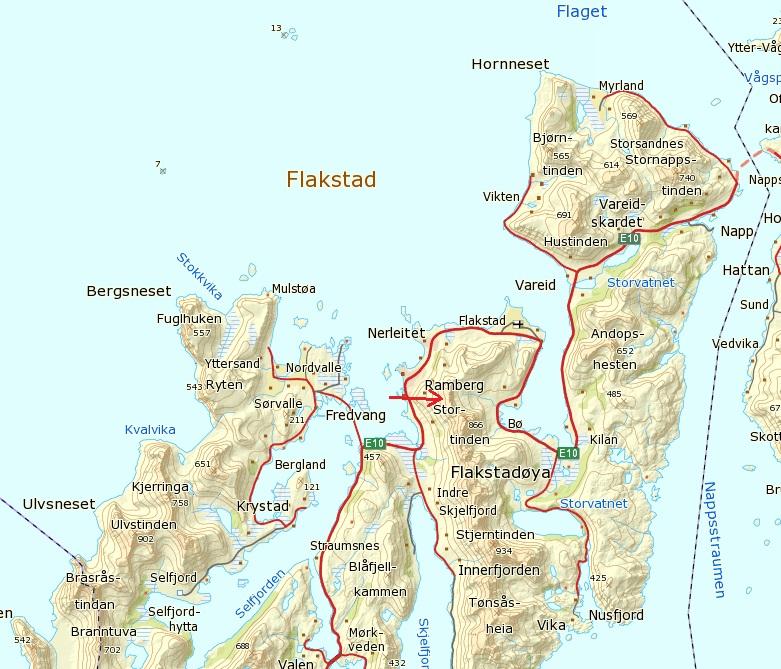 ramberg lofoten kart Moltinden, Ramberg (696 m.o.h) ramberg lofoten kart